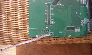 StorCenter serial cable attached